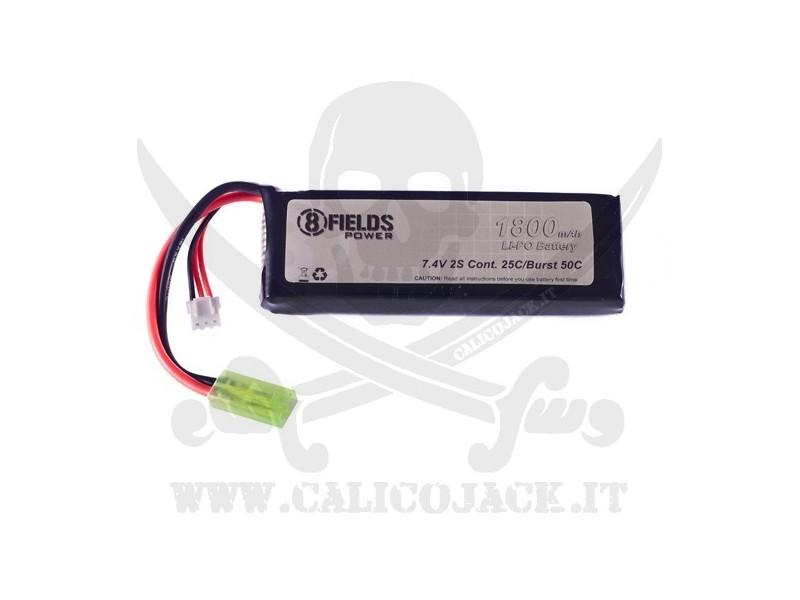 BATTERY Li-Po 7,4V 1800mAh 25/50C