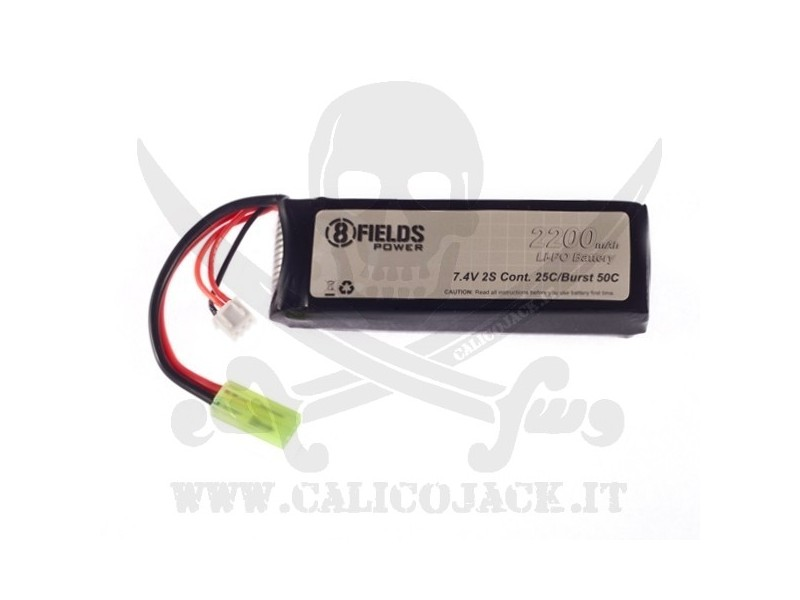 BATTERY Li-Po 7,4V 2200mAh 25/50C