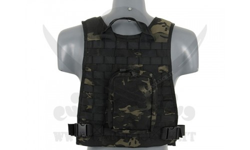 PLATE CARRIER HARNESS MULTICAM BLACK