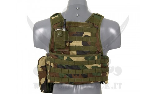 PLATE CARRIER ASSAULT WOODLAND