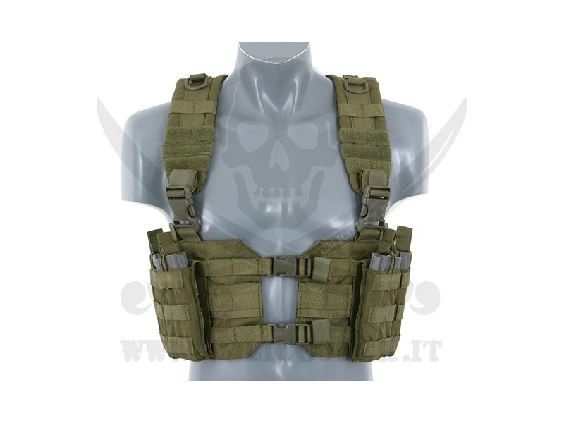 SPLIT FRONT CHEST HARNESS GREEN