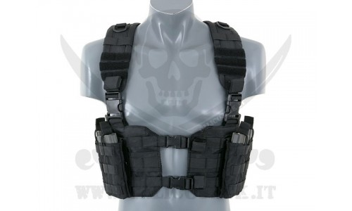 SPLIT FRONT CHEST HARNESS BK