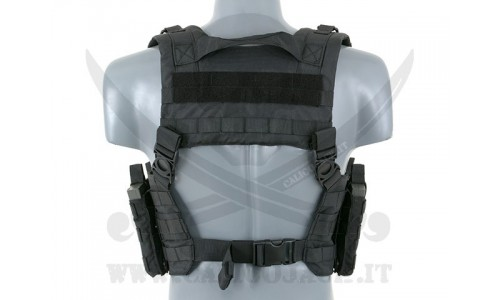 SPLIT FRONT CHEST HARNESS BLACK