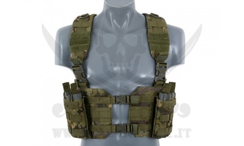 SPLIT FRONT CHEST HARNESS MULTICAM TROPIC