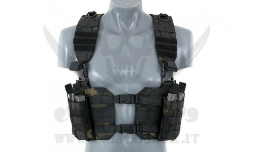 SPLIT FRONT CHEST MULTICAM BK