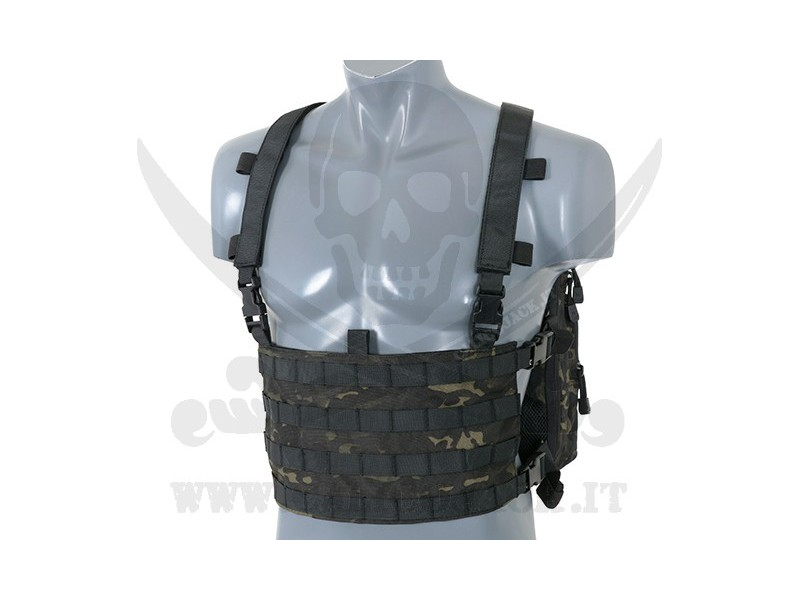 CHEST BACKPACK MULTICAM BLACK