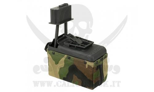 1500rd M249 A&K WOODLAND