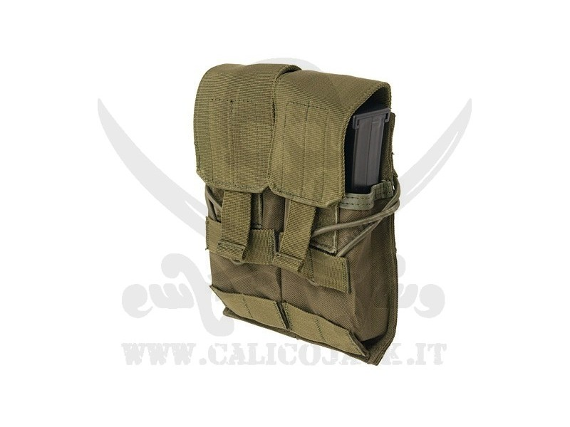 DOUBLE POUCH FOR M4/M16/AK-74 OD