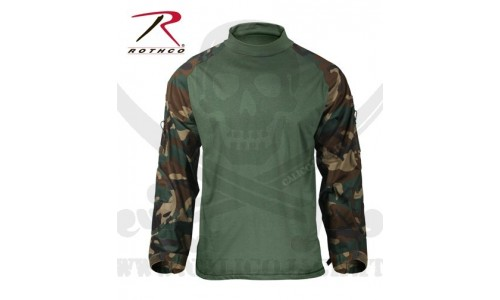 COMBAT SHIRTS USA WOODLAND