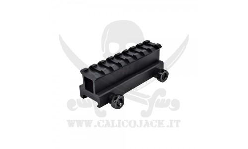 FLAT TOP RAIL MOUNT 2,5CM (S16)