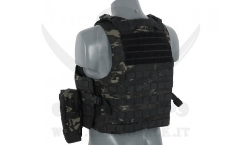 AAV FSBE ASSAULT VEST V2 MULTICAM BLACK