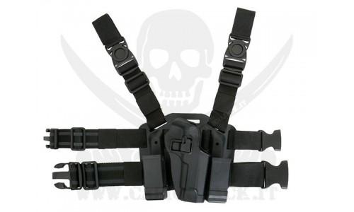 HOLSTER W/DROP M9/M92 BLACK