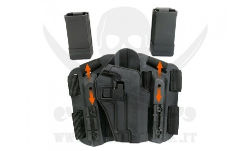 HOLSTER W/DROP M9/M92 BLACK
