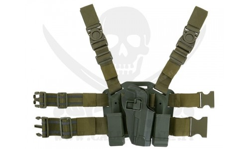 HOLSTER W/DROP M9/M92 GREEN