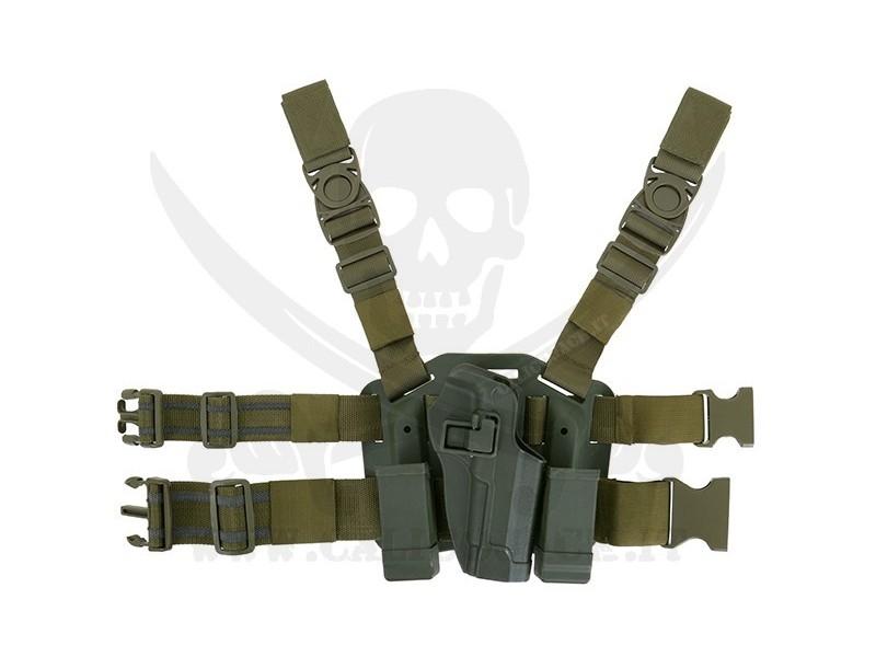 HOLSTER W/DROP M9/M92 GREEN
