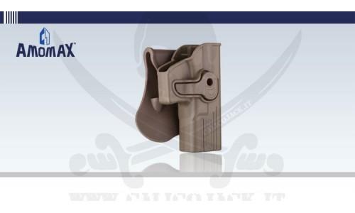 AMOMAX HOLSTER GLOCK G17/G18/G19 TAN