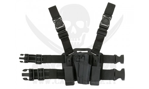 HOLSTER W/DROP 1911 BLACK