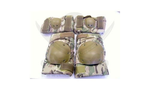 KNEE AND ELBOW PADS SET MULTICAM